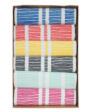 Modern Colored Line Napkins from The Littlest Fry