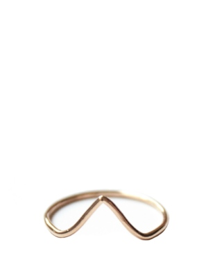 14k Yellow Gold Fill Pointer Stacking Ring