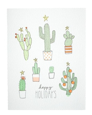 Cactus Christmas Tree Card