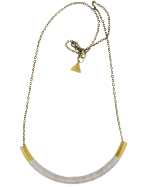 Silk Curved Brass Necklace