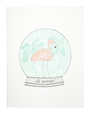 A Very Flamingo Holiday Card