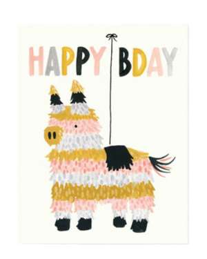 Happy Birthday Piñata Card