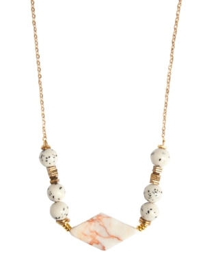 Marble & Sesame Stone Necklace