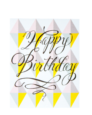 Happy Birthday Geometric Card