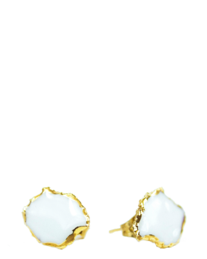 Gold Painted Porcelain Earrings