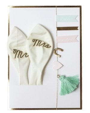 I do! Me too! Balloon Wedding Card