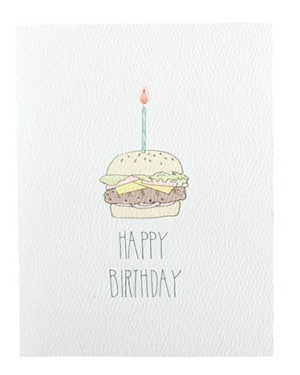 Hamburger Birthday Card