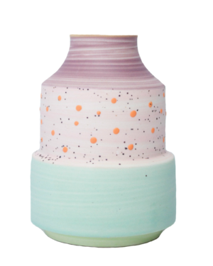 Speckled Colored Vase