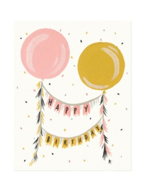 Happy Birthday Party Balloons Card