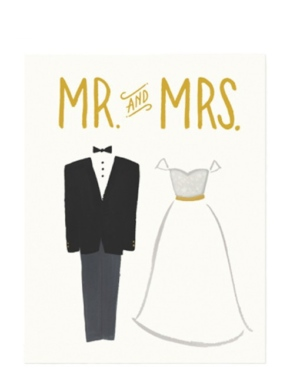 His and Her Wedding Card