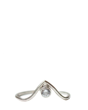 Sterling Silver Topaz Pointer Ring
