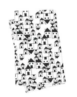 Little House Patterned Tea Towel