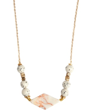 Marble & Speckle Stone Necklace