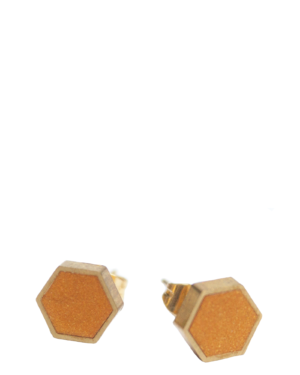 Coloured Hexagon Earrings