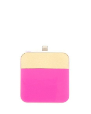 Color Block Neon Pink iPhone Charger