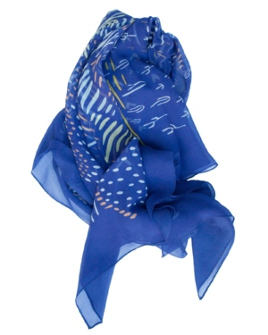 Blue Chimayo Scarf