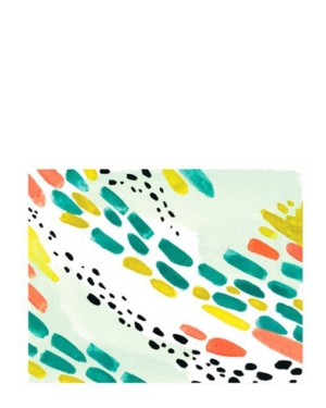 Painted Pattern Notecards Set of 6