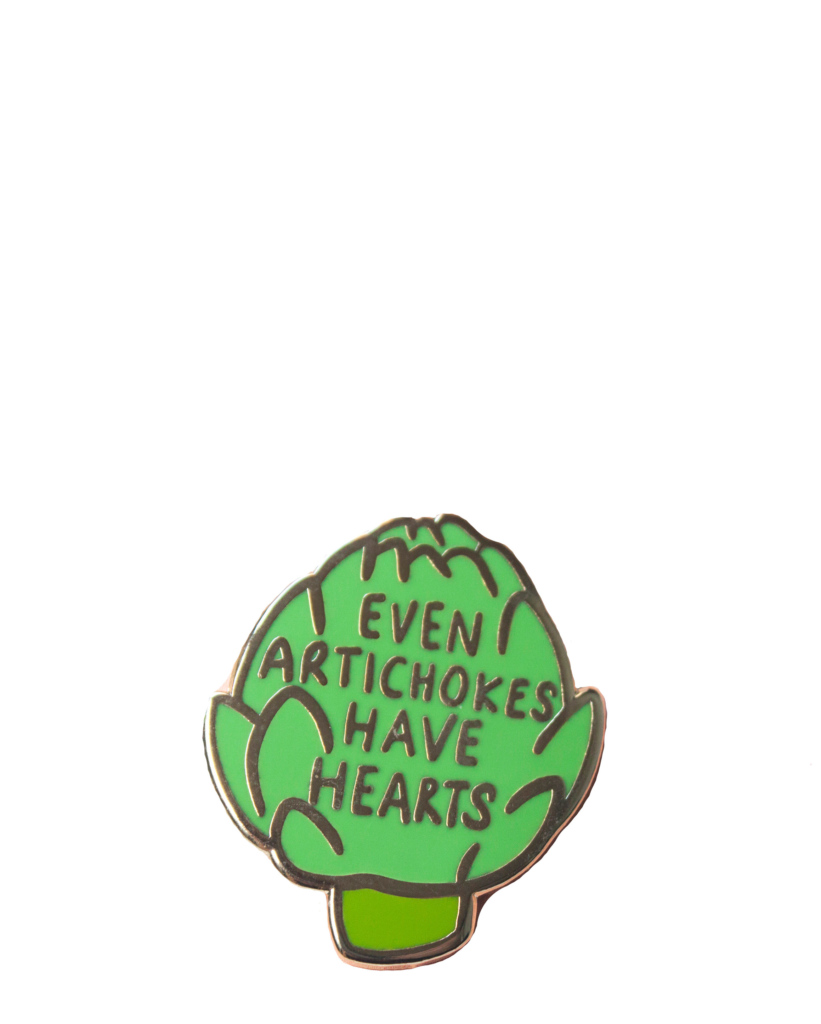 Artichoke Heart Enamel Pin – The Littlest Fry