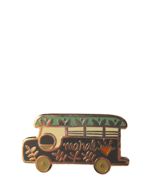 mahal-bus-enamel-pin