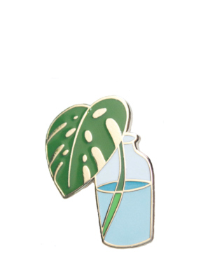 monstera-plant-enamel-pin