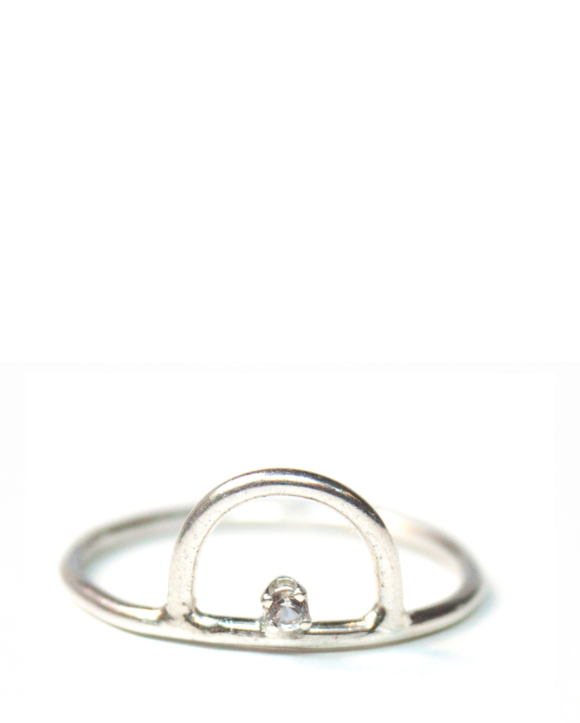 Sterling Silver Waxing Moon Ring – The Littlest Fry