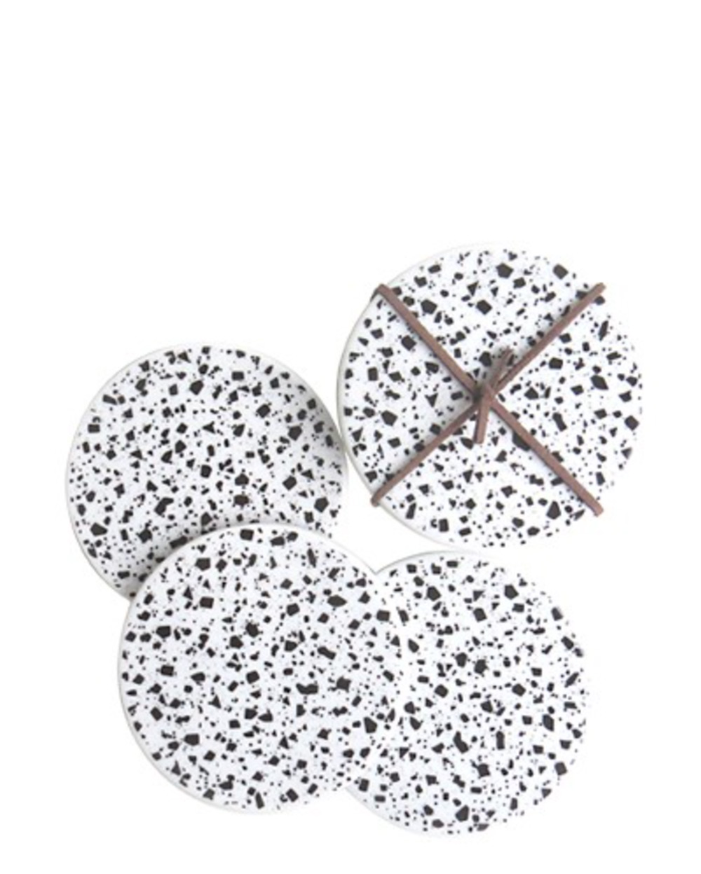 Black and White Terrazzo Coasters – The Littlest Fry