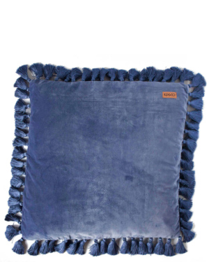 velvet-marine-blue-tassel-cushion