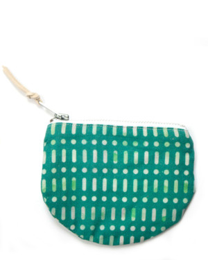 green-patterned-cotton-pouch