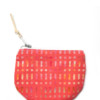 Red Patterned Cotton Pouch – The Littlest Fry