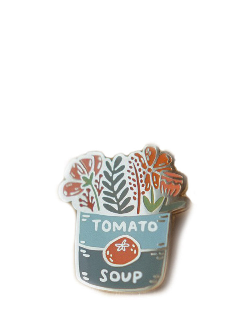 Tomato Soup Bouquet Enamel Pin – The Littlest Fry