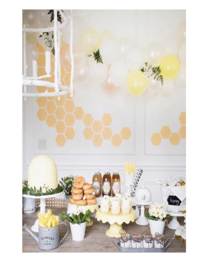 gold-honey-comb-wall-decals