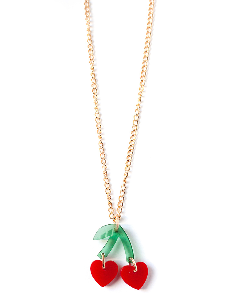 Cherry Hearts Necklace – The Littlest Fry