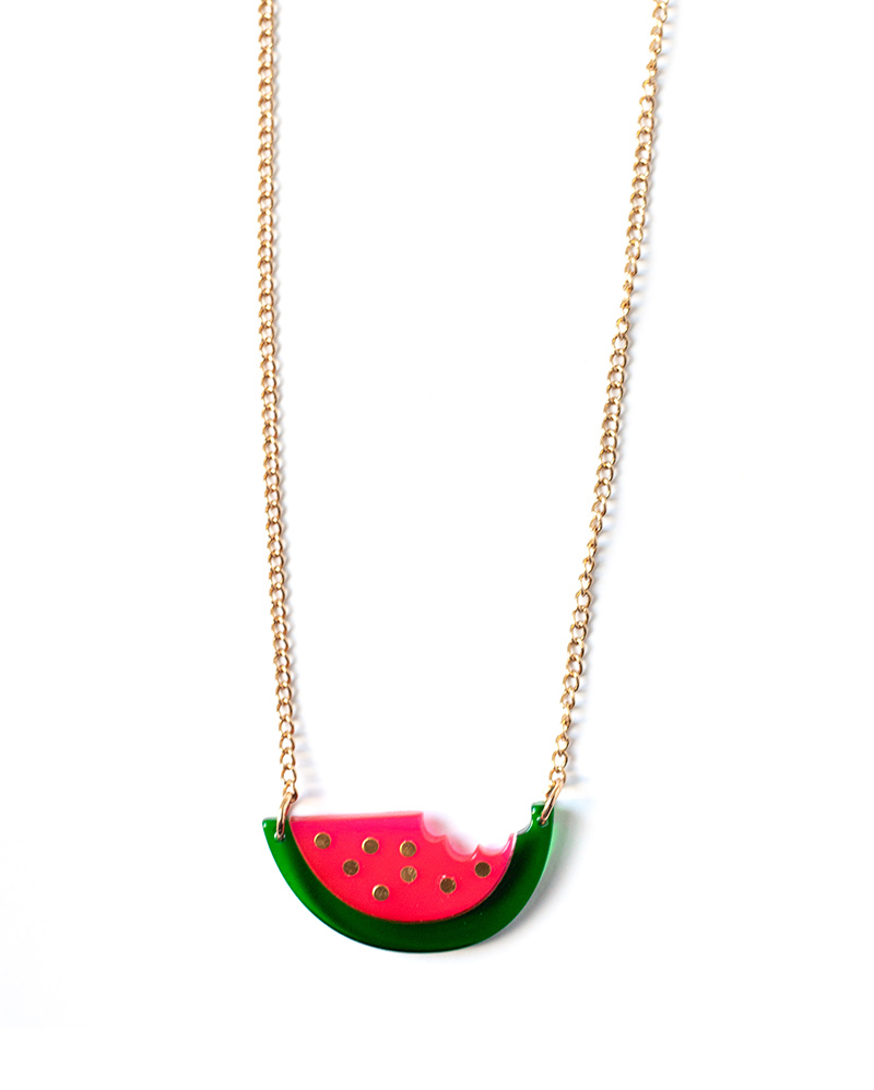 Watermelon Necklace – The Littlest Fry
