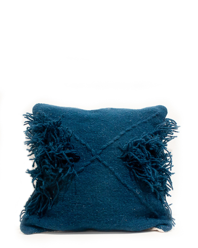 Blue Tufted Cushion – The Littlest Fry