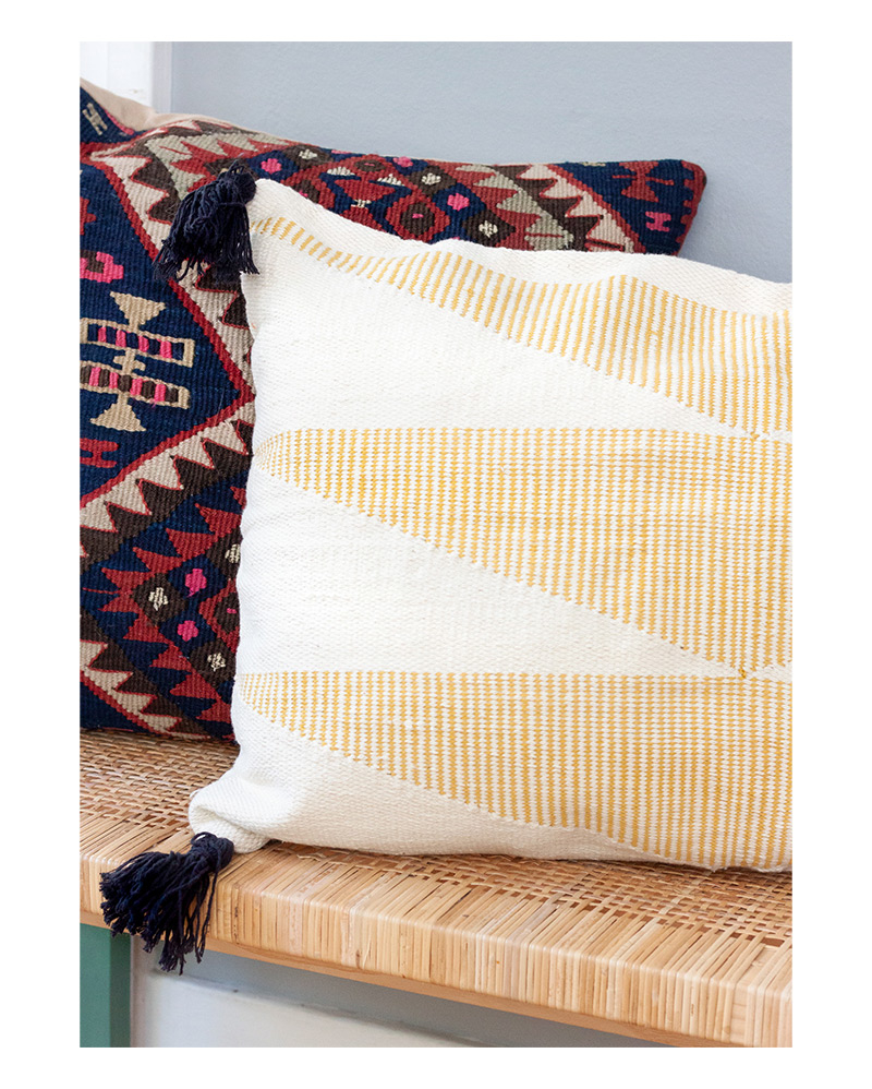 Yellow Cascade Cushion – The Littlest Fry