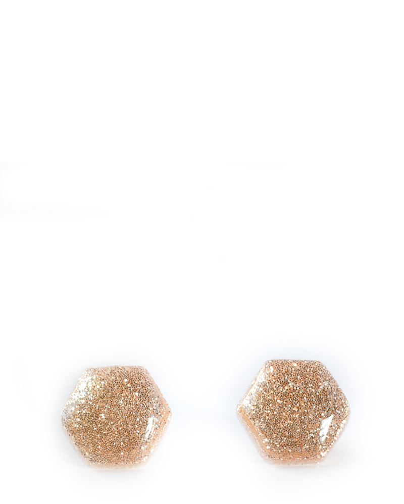 Gold Glitter Hexagon Earrings – The Littlest Fry