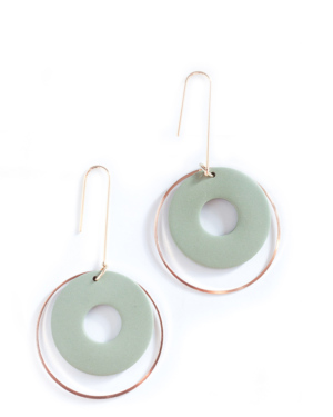 olive-green-circle-earrings
