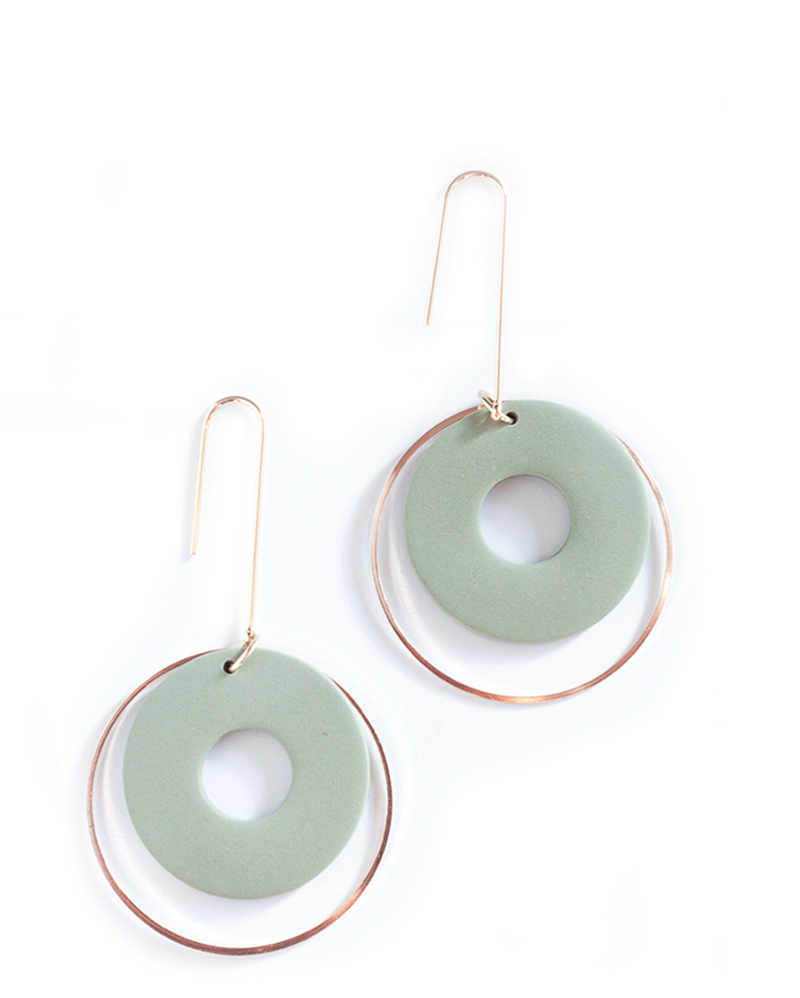 Olive Green Circle Earrings – The Littlest Fry