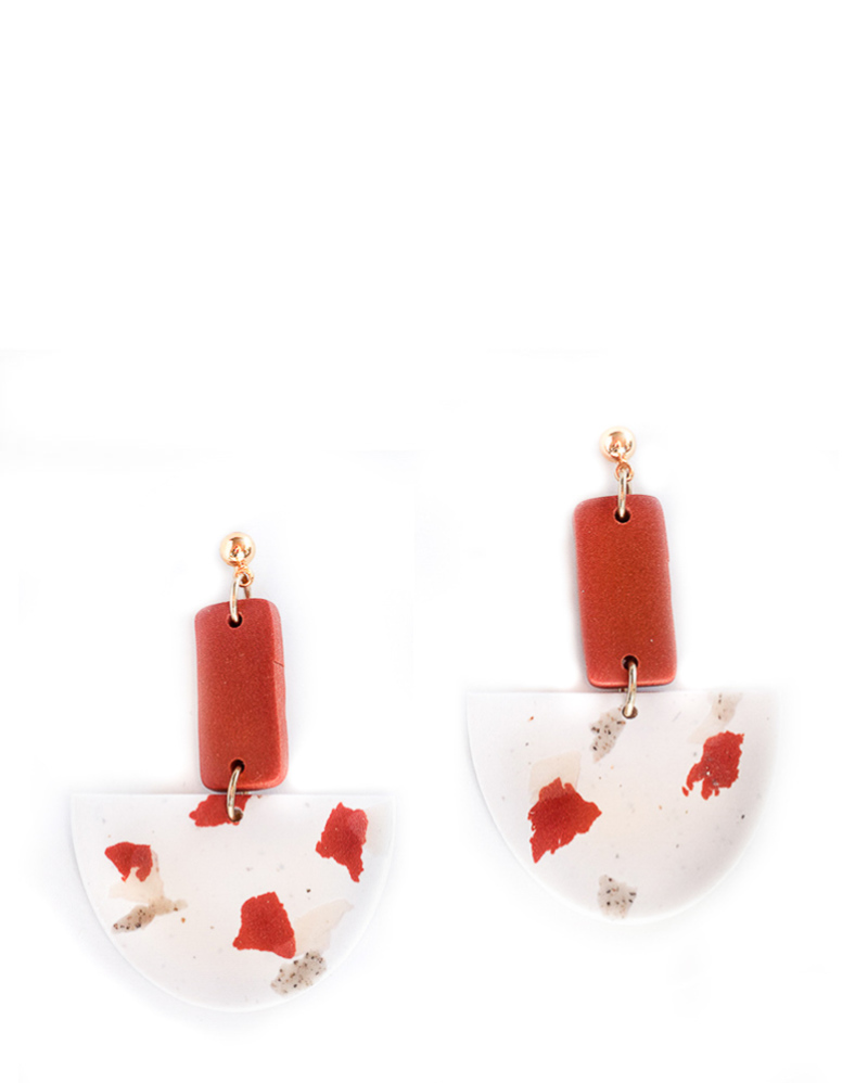 Red Terrazo Earrings – The Littlest Fry