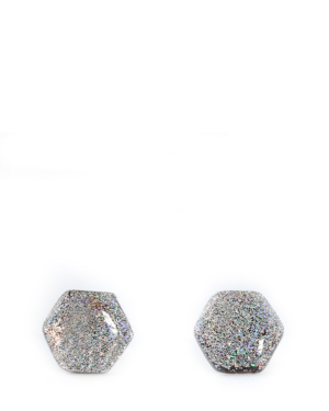 silver-glitter-hexagon-earrings