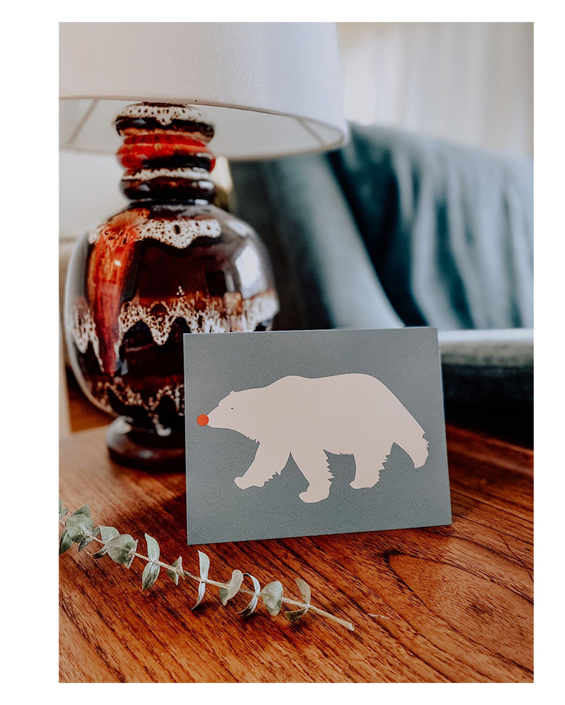 Polar Bear Holiday Card – The Littlest Fry