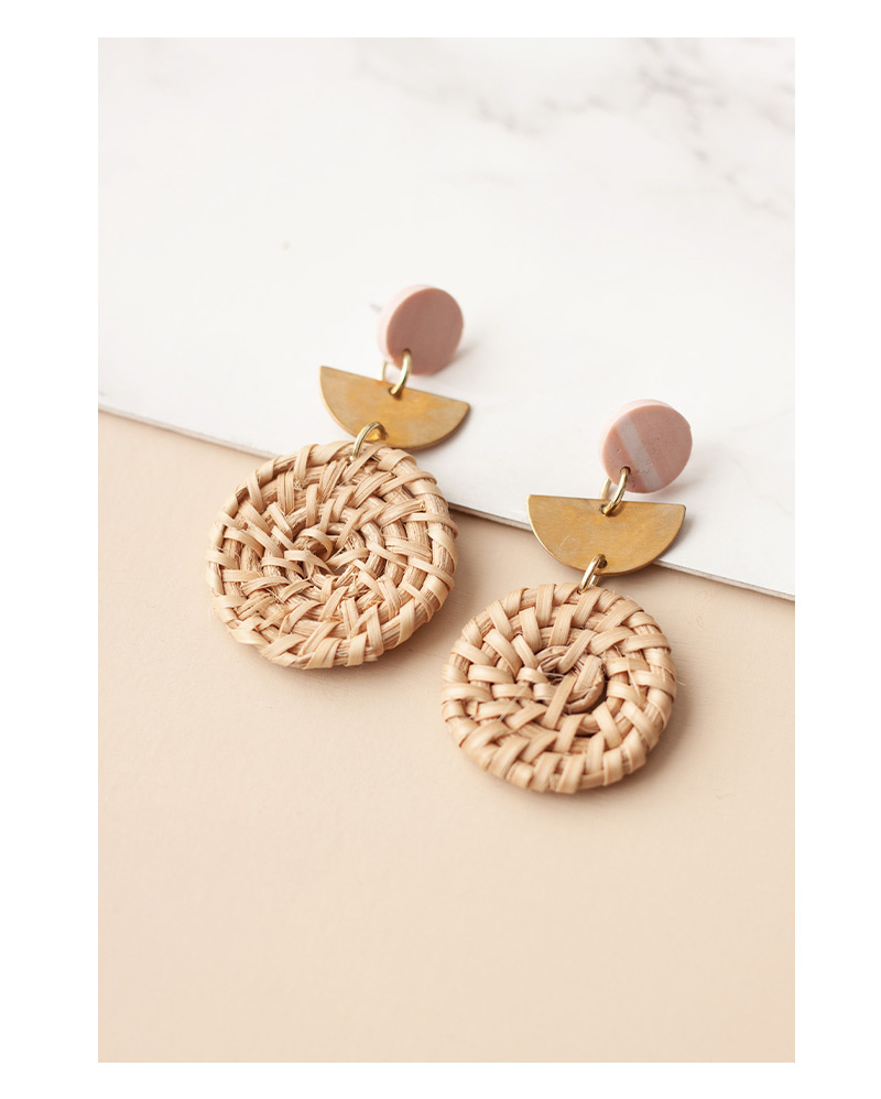 Woven Brass Earrings – The Littlest Fry