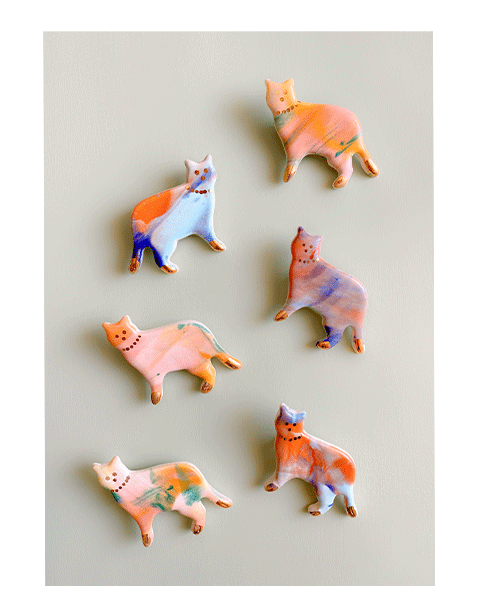 Pretty Kitty Brooches – The Littlest Fry